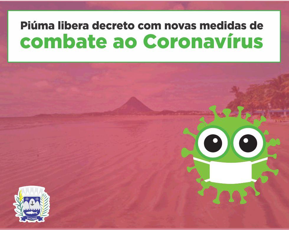 Piúma libera decreto com novas medidas de combate ao Coronavírus